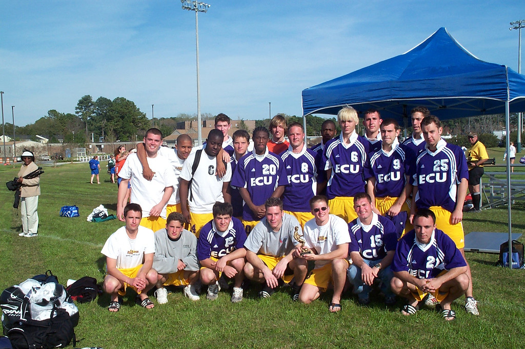 3/22/2002 ECU Spring Fling Tournament - Team photo.<br /> <br /> Ryan, Joey, Ahmed, Joey, Justin Dordick, Chris Walker, Brian Kennedy, Chris Turnbull, Chris Kennedy, Tyler Mutz, Justin Lucas, Kevin Smith, Jon Deutsch, Chris Webster, Garrett Cobb, Bill Hancock.