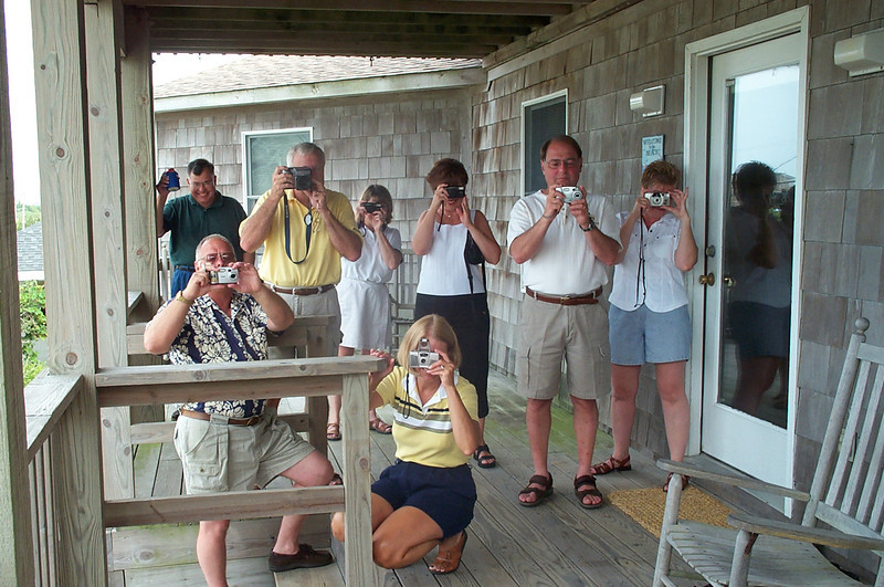 7/22/2002 Big Chill Beach Vacation - photograhers.<br /> <br /> Jeff Sloan, Steve Espinoza, Bill Merrill, Pat Deutsch, Sue Merrill, Gail Espinoza, Stan Deutsch, Melody Sloan.