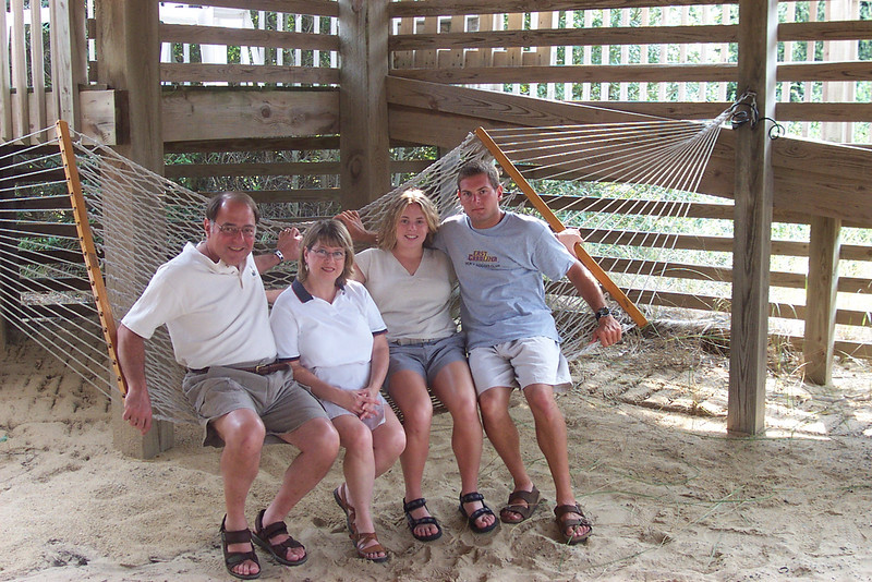 7/27/2002 Big Chill Beach Vacation - family photo.<br /> <br /> Stan Deutsch, Pat Deutsch, Cheryl Deutsch, Jon Deutsch