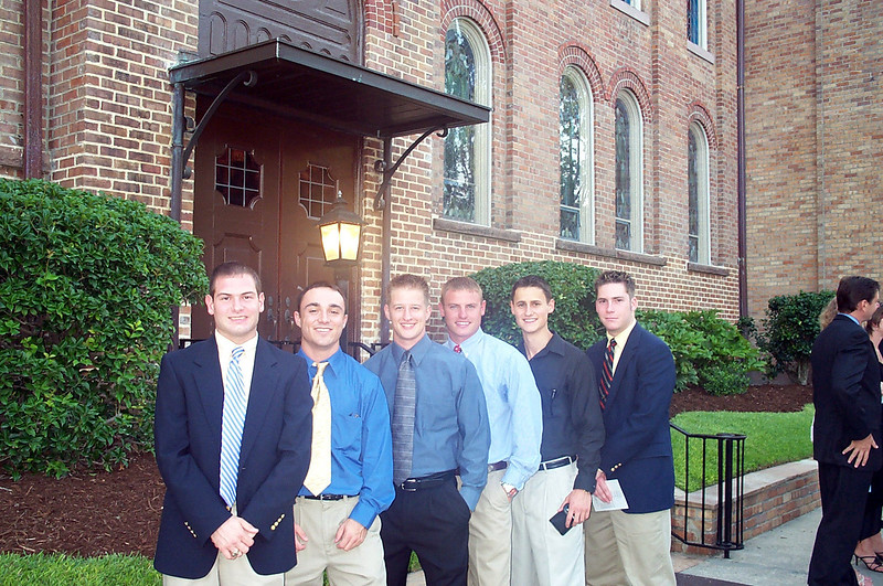 6/14/2003 before the Walker wedding: Jon Deutsch, Chris Webster, Justin Lucas, JG Ferguson, Jason Peoples, Chris Kennedy.