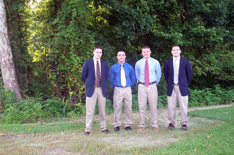 6/14/2003 heading to the Walker wedding: Chris Kennedy, Chris Webster, JG Ferguson, Jon Deutsch.