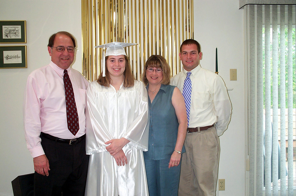 6/11/2003 Cheryl's graduation.<br /> <br /> Stan Deutsch, Cheryl Deutsch, Pat Deutsch, Jon Deutsch