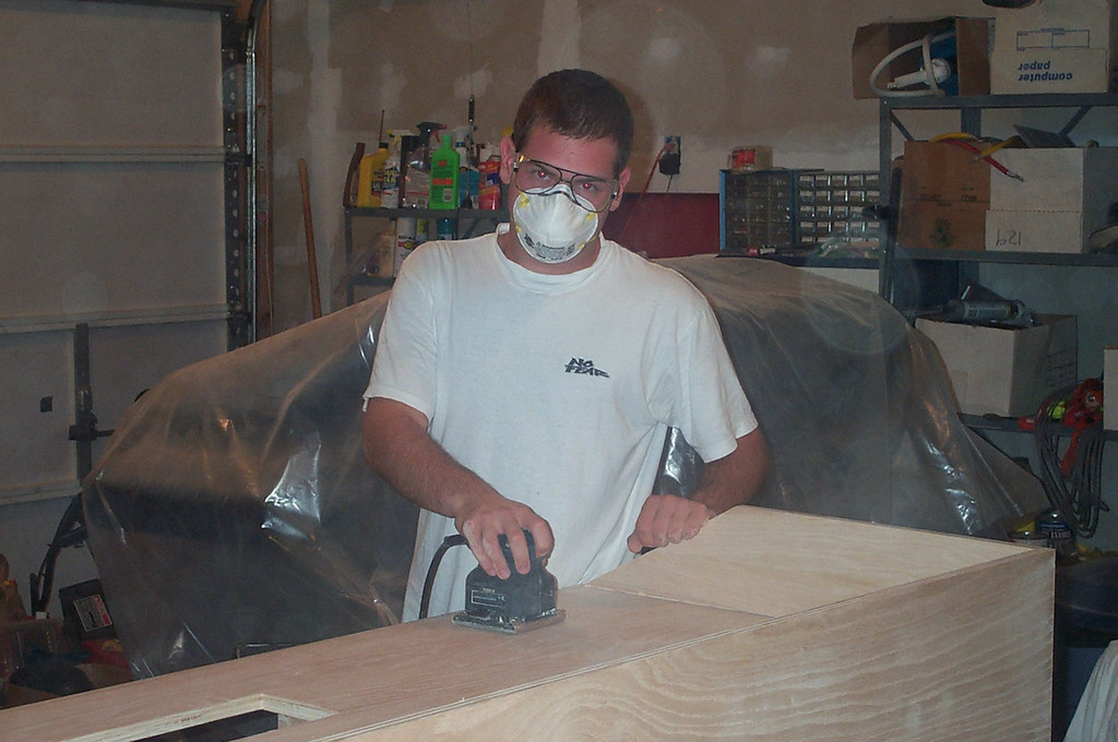 Jon Deutsch sanding
