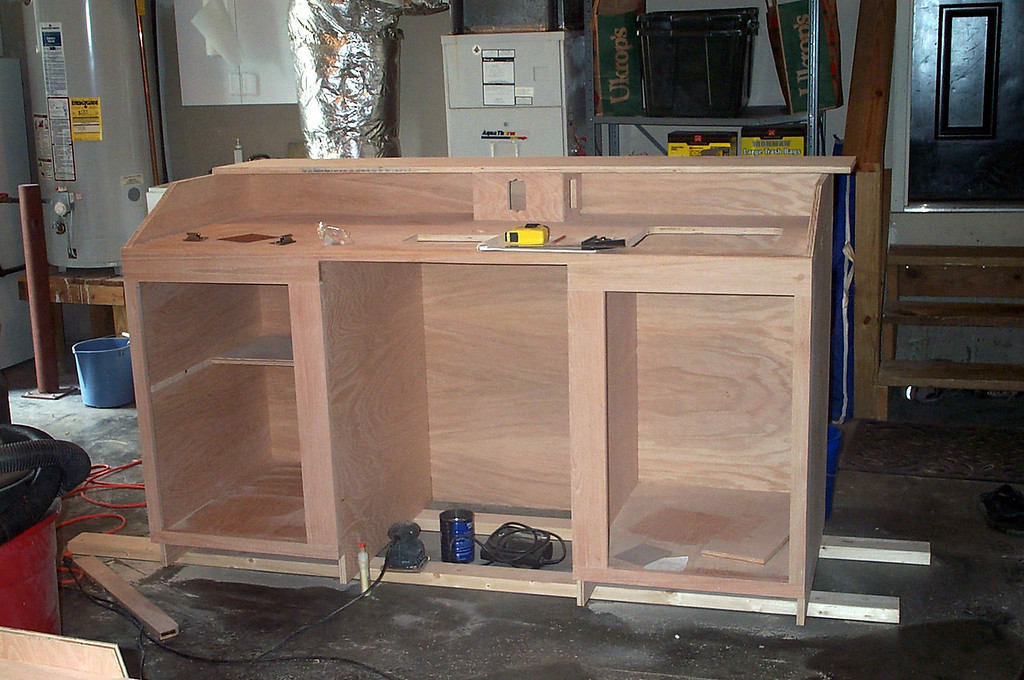 Electrical box and cabinets outlined
