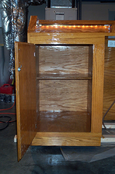 Left inside cabinet