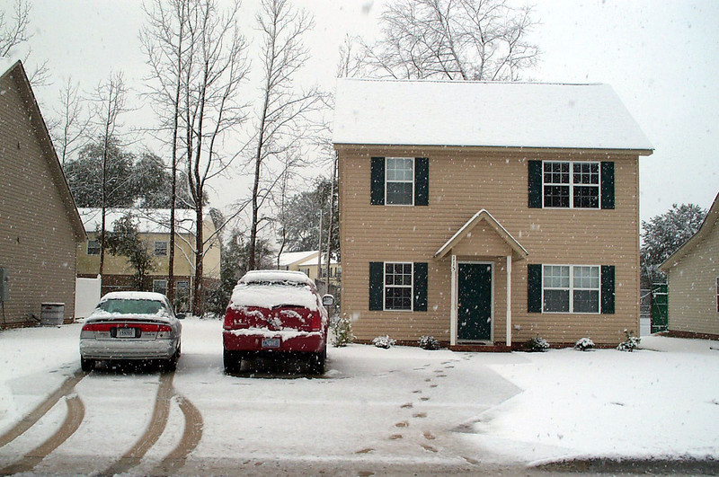 2/24/2004 Snow at our house in Greenville.