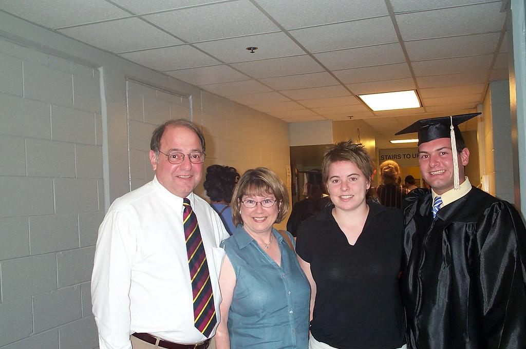 5/7/2004 - ECU Graduation - Stan Deutsch, Pat Deutsch, Cheryl Deutsch, Jon Deutsch.
