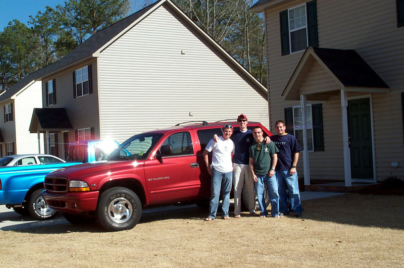 3/13/2004 Setting off on our Spring Break adventure - JG Ferguson, Billy Truett, Chris Webster, Jon Deutsch