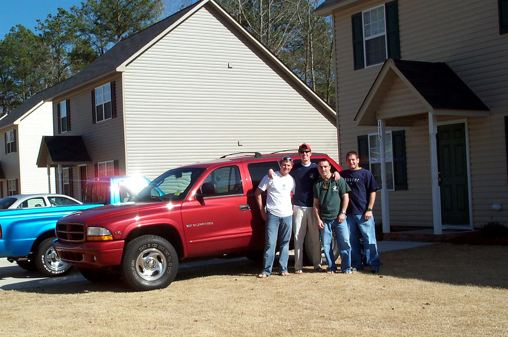3/13/2004 Setting off on our Spring Break adventure - JG Ferguson, Billy Truett, Chris Webster, Jon Deutsch