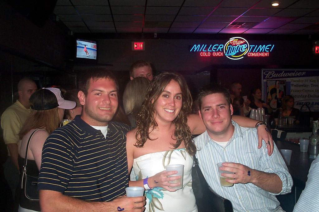 3/27/2004 at PB's.  Jon Deutsch, Beth McChesney, Chris Kennedy.