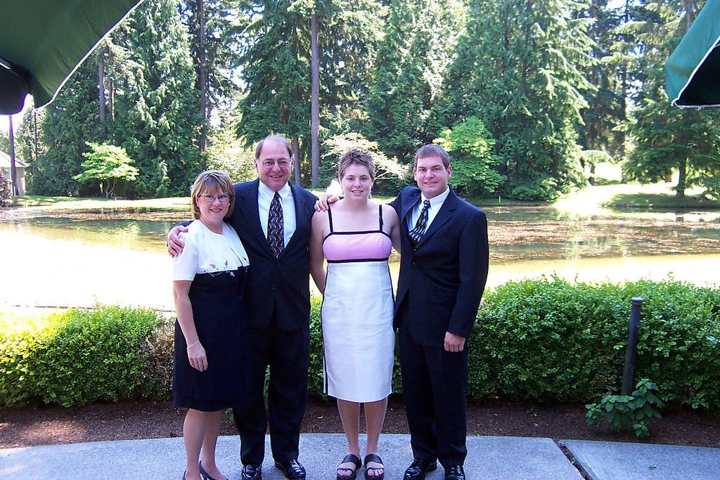 6/19/2004 Cousin's wedding - Pat Deutsch, Stan Deutsch, Cheryl Deutsch, Jon Deutsch.
