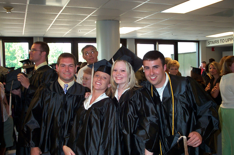 5/7/2004 - ECU Graduation - Jon Deutsch, Lynn Hartley, Lauren Whitehead, Jeremy