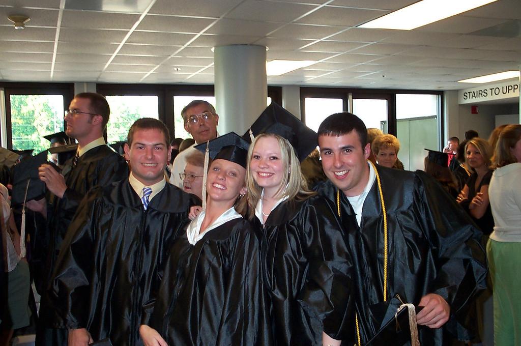 5/7/2004 - ECU Graduation - Jon Deutsch, Lynn Hartley, Lauren Whitehead, Jeremy