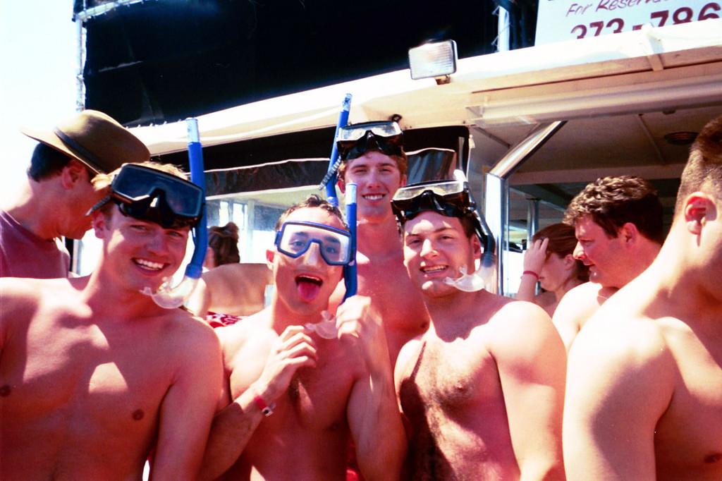 3/13/2004 - Snorkeling - JG Ferguson, Chris Webster, Billy, Jon Deutsch.