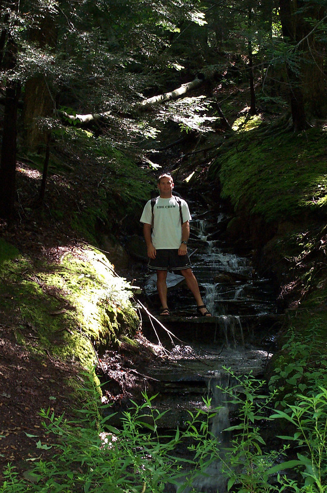 7/16/2004 Jon at the Chautauqua Gorge.