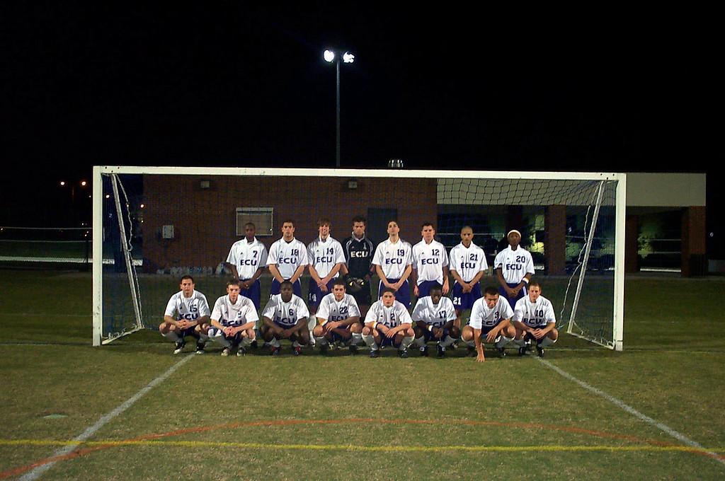 2/20/2004 ECU Club Soccer at University of Florida Tournament.<br /> <br /> Jon Deutsch, Ty Cunningham, Ahmed, Chris Turnbull, Matt Hayek, Garrett Cobb, Matt Clair, Joey Parker, Justin Lucas.