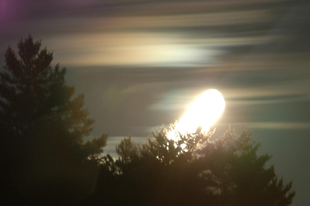 long exposure moon rising.
