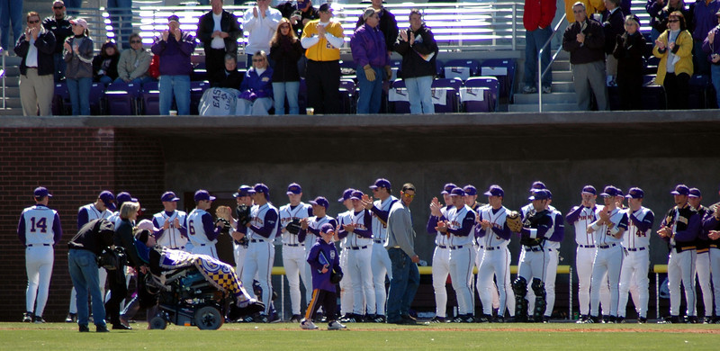 Keith LeClair being honored by the ECU Baseball team.