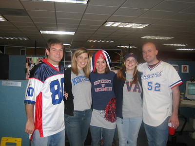2/3/2006 - Team Spirit day at work - Jon Deutsch, Jennifer Williams, Ellen Brooks, Lauren Tipton, Shaun Irving