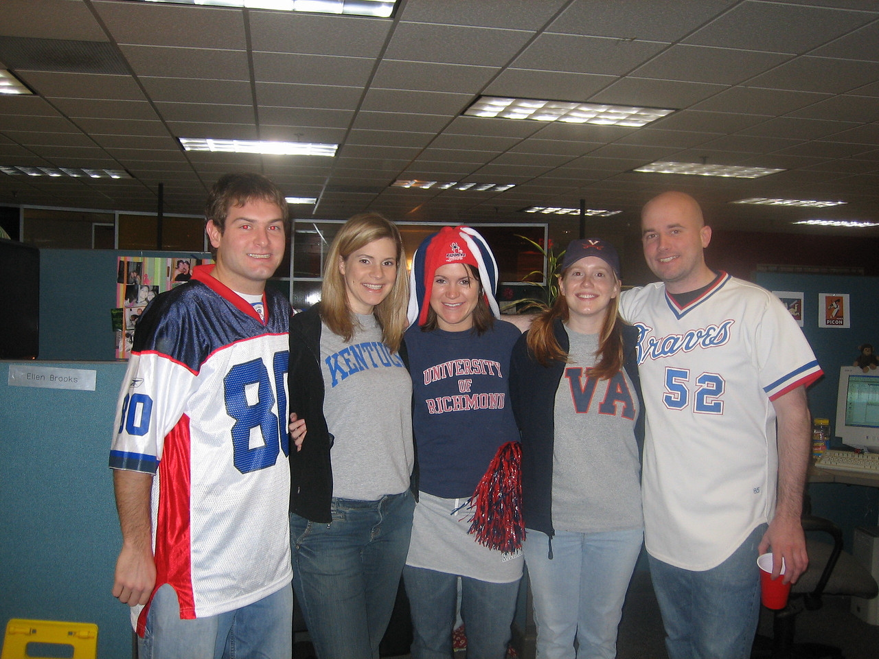 2/3/2006 - Team Spirit day at work - Jon Deutsch, Jennifer Williams, Ellen Brooks, Lauren Tipton, Shaun Irving