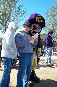 2/25/2006 - ECU Baseball - Clark-Leclair Tournament - Heather Wade, Chris Webster, Peedee
