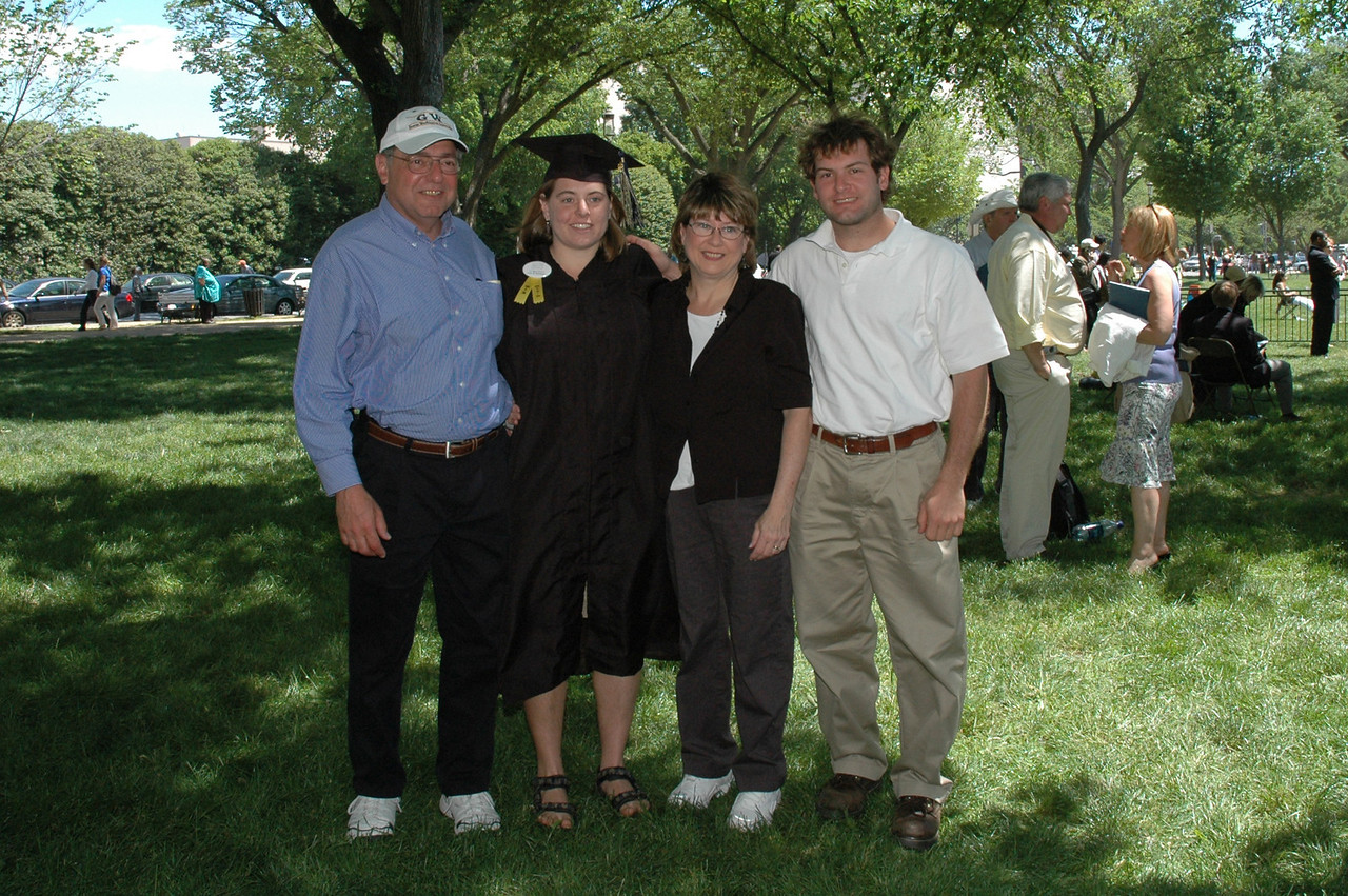 5/21/2006 - George Washington University Graduation - Stan Deutsch, Cheryl Deutsch, Pat Deutsch, Jon Deutsch