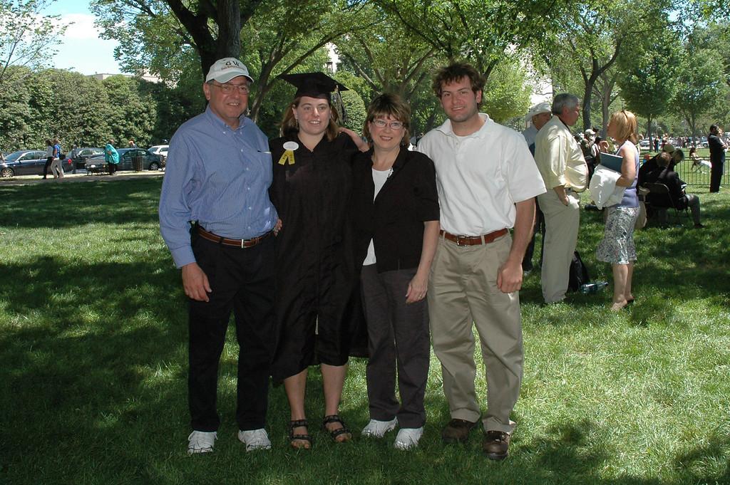 5/21/2006 - George Washington University Graduation - Stan Deutsch, Cheryl Deutsch, Pat Deutsch, Jon Deutsch