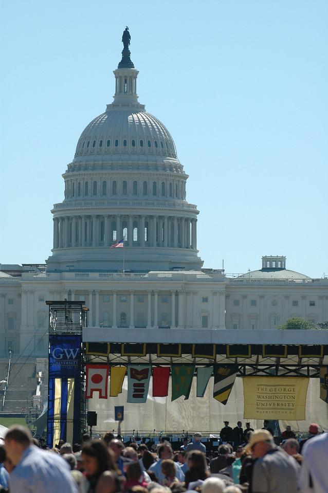 5/21/2006 - George Washington University Graduation at the capital.