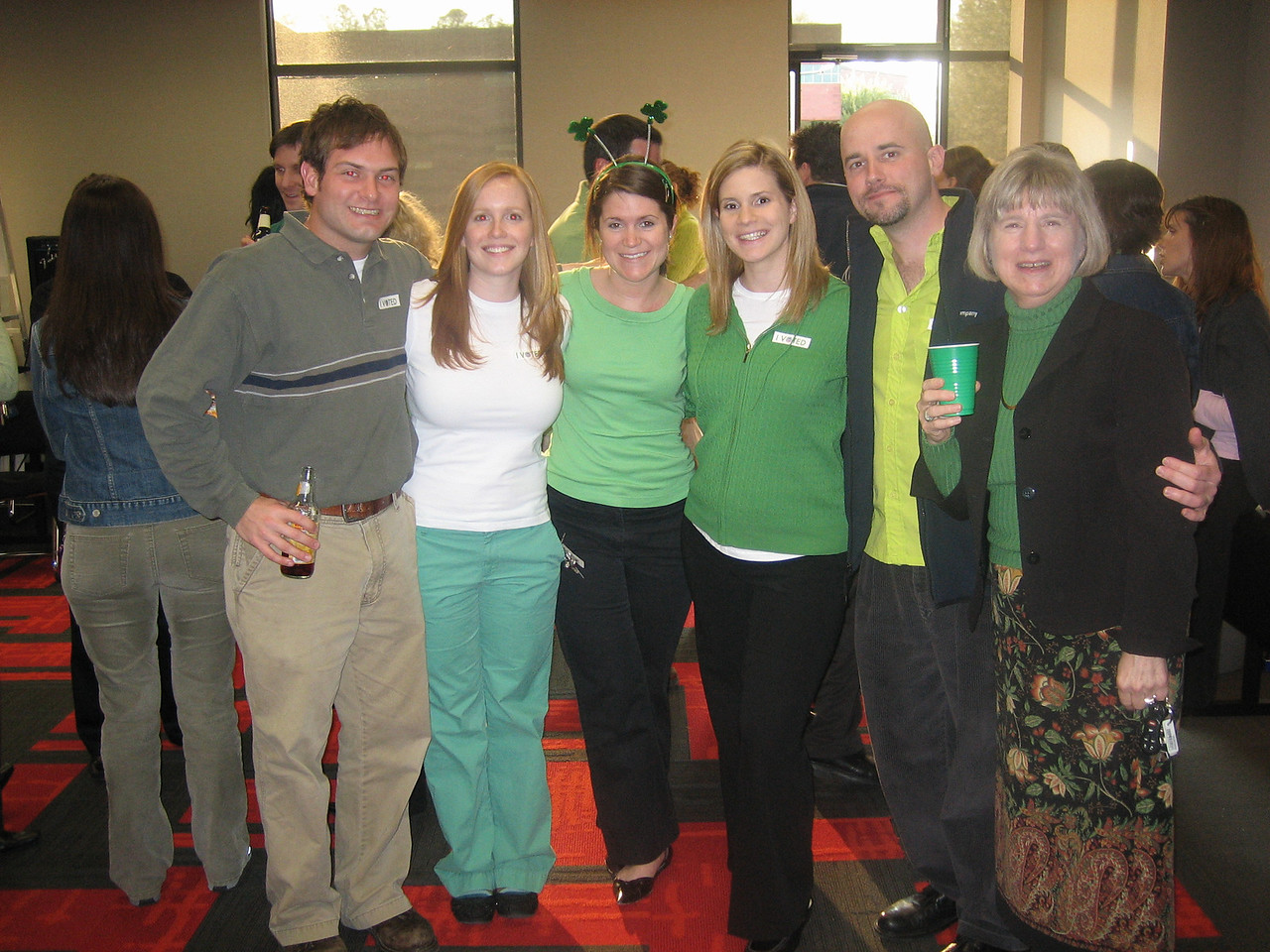 3/17/2006 - St. Patrick's Day Party - Jon Deutsch, Lauren Tipton, Ellen Brooks, Jennifer Williams, Shaun Irving, Libby Burton
