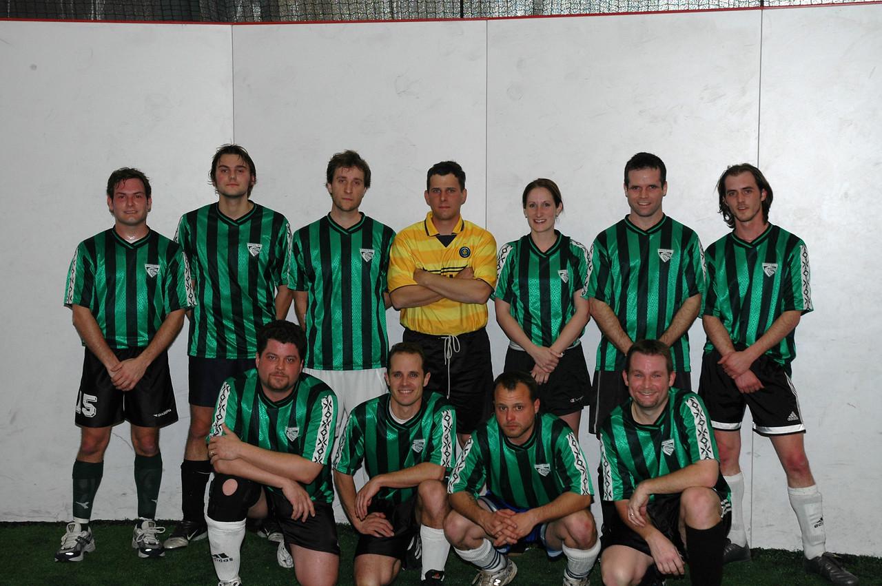 2/28/2006 - Richmond Blaze indoor at SCOR - Jon Deutsch, Daryl Grove, Jarred, Dan Palese, Chris Diskin, Sean, Kent Vaughan, Sean, Mike Palese.