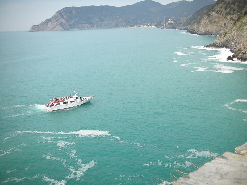 Ferry boat off Vernazza