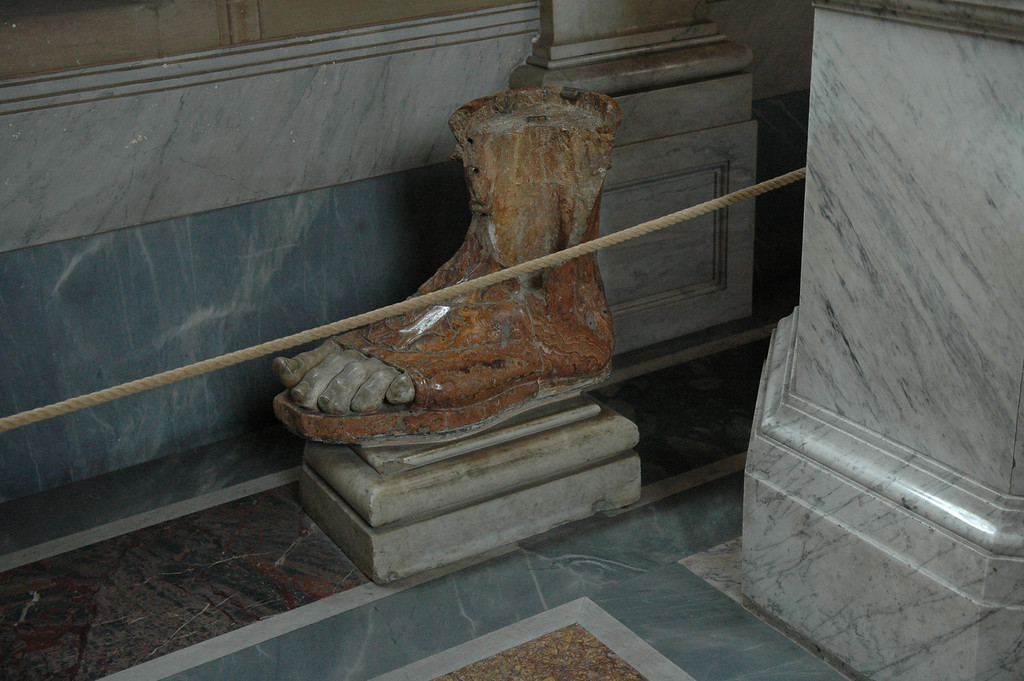 Foot sculpture in the Vatican.