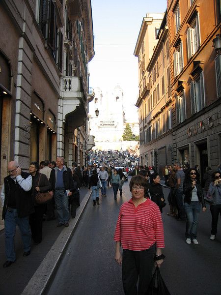Pat in front of the Spanish Steps.