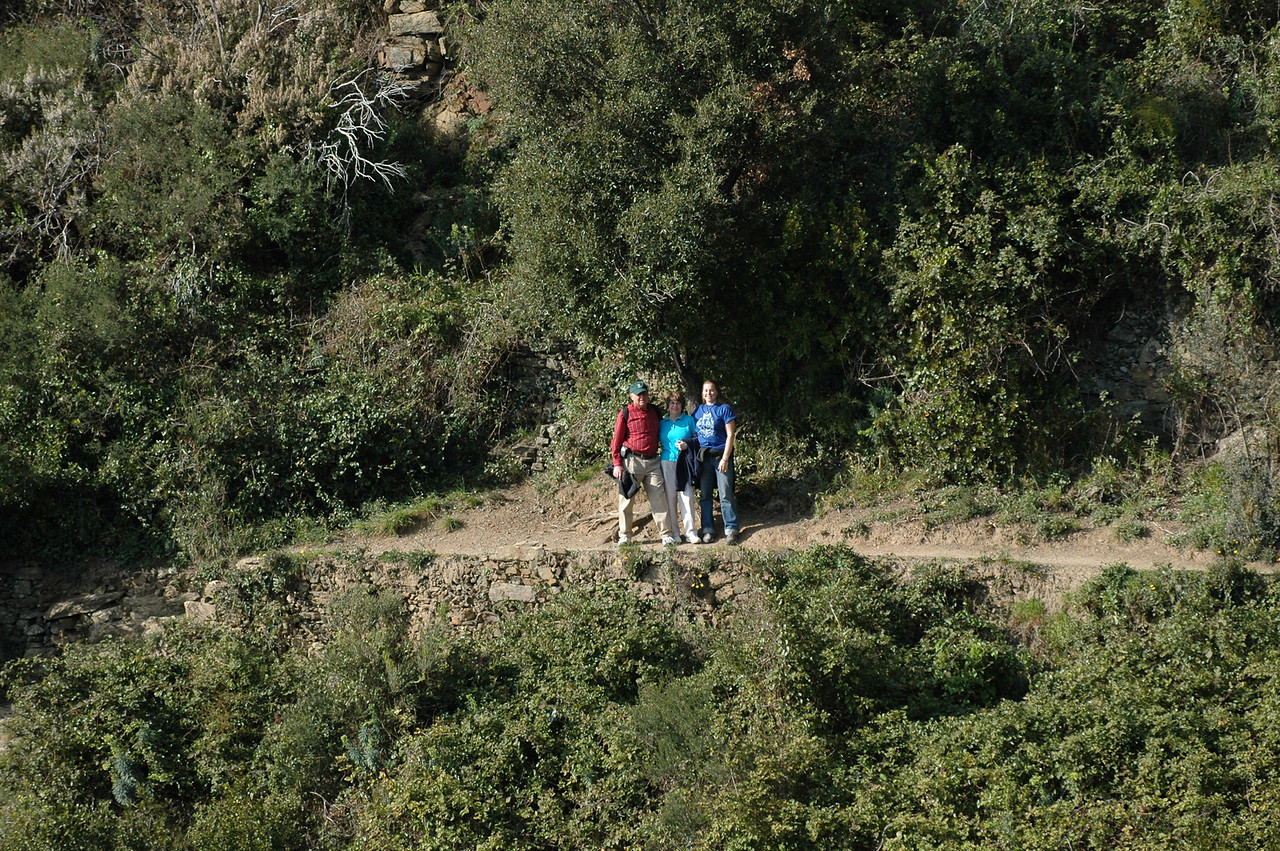 Stan, Pat and Cheryl on the trail to Monterosso