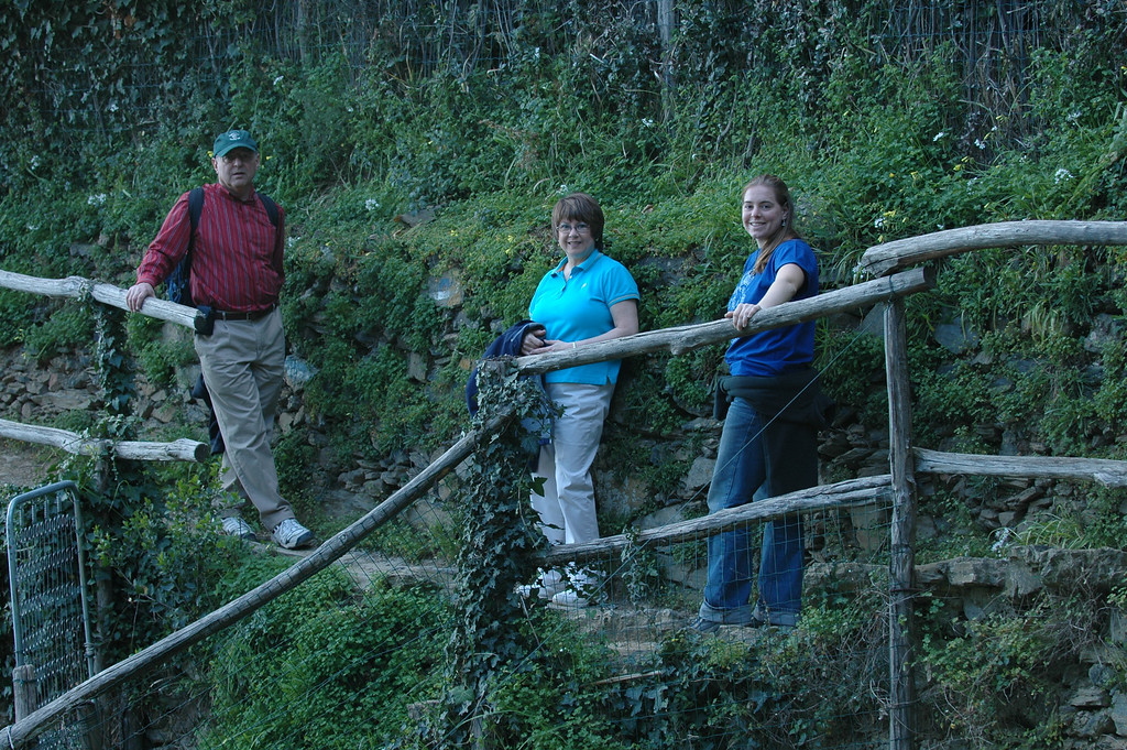 Stan, Pat and Cheryl on the trail to Monterosso in the Cinque Terre area of Italy.