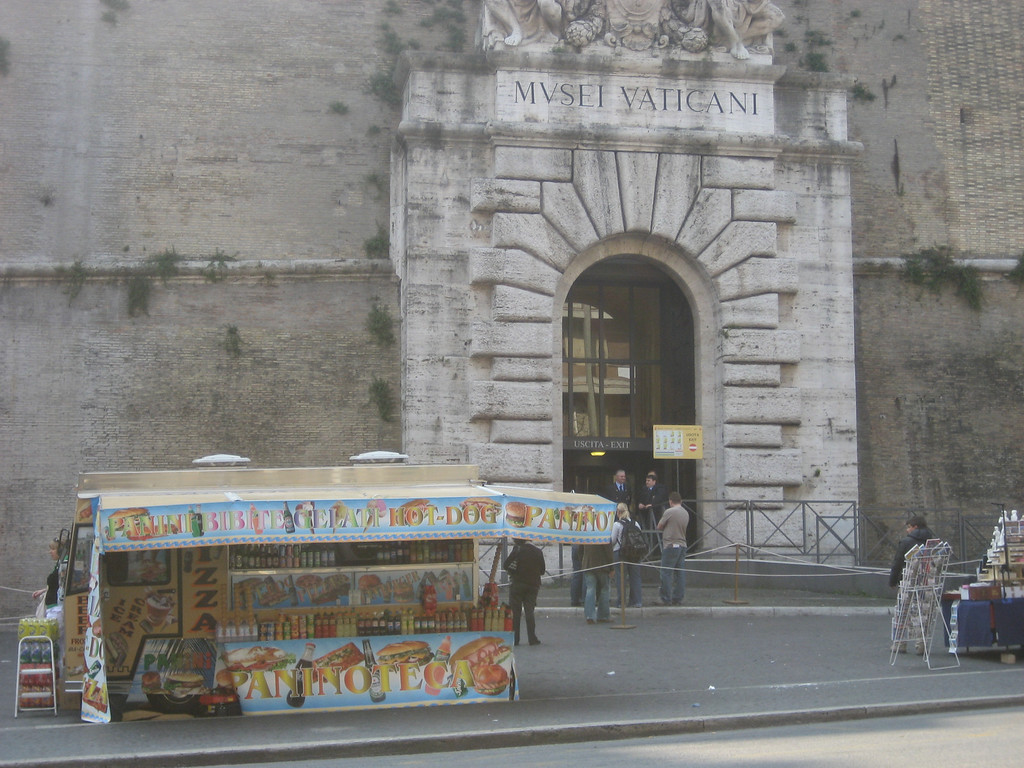 Street Vendor outside the Vatican museum.