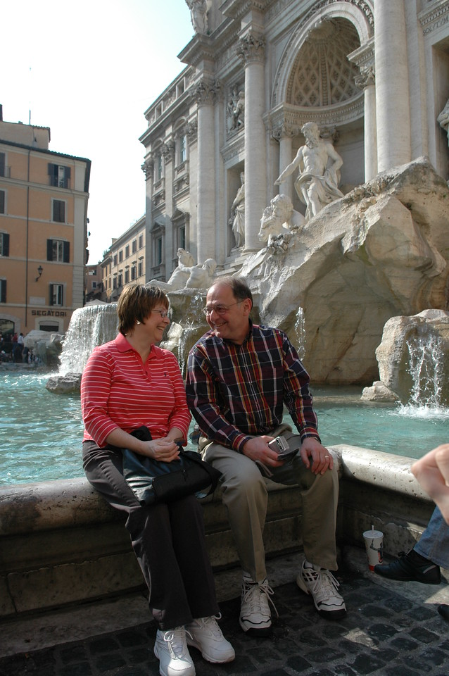 Pat & Stan at the Trevi Fountain.