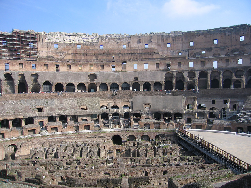 Inside the Coliseum.