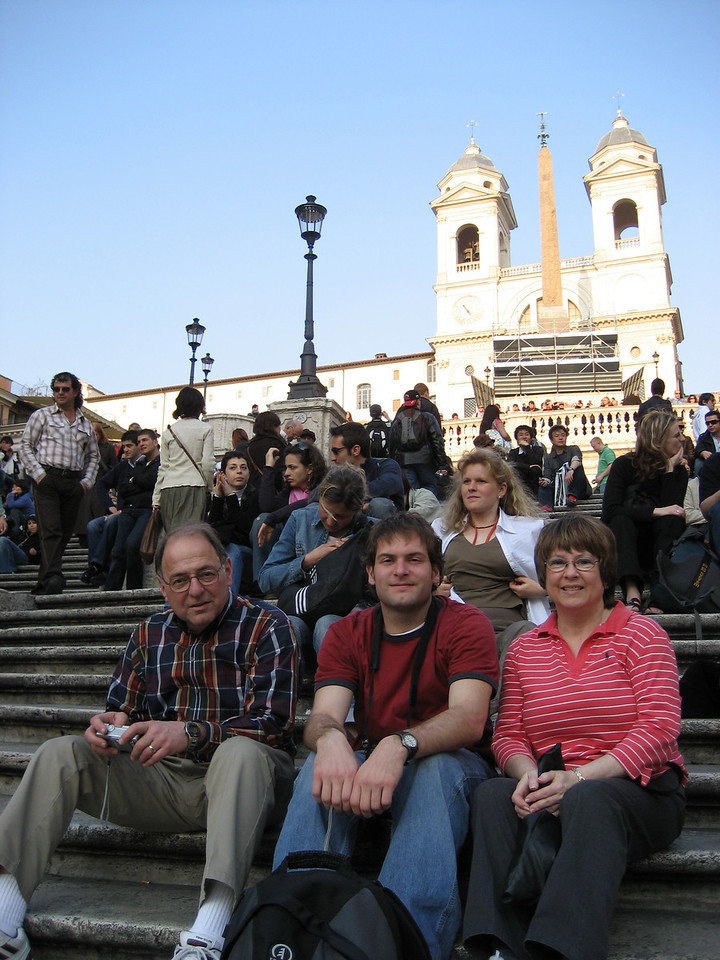 Stan, Jon & Pat on the Spanish Steps.
