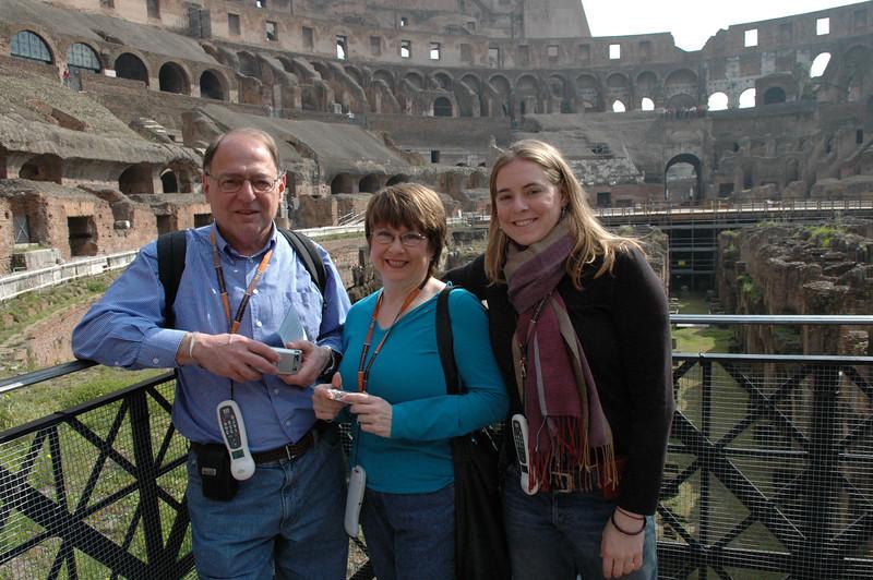 Stan, Pat & Cheryl inside the Coliseum.