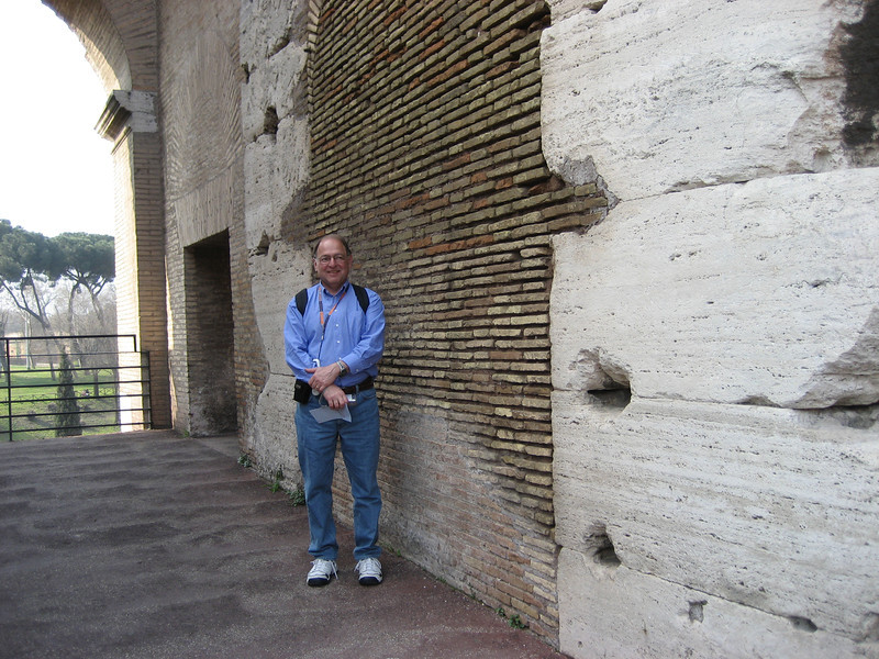 Stan inside the Coliseum.