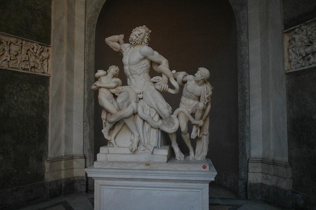 Sculpture in the Vatican museum.