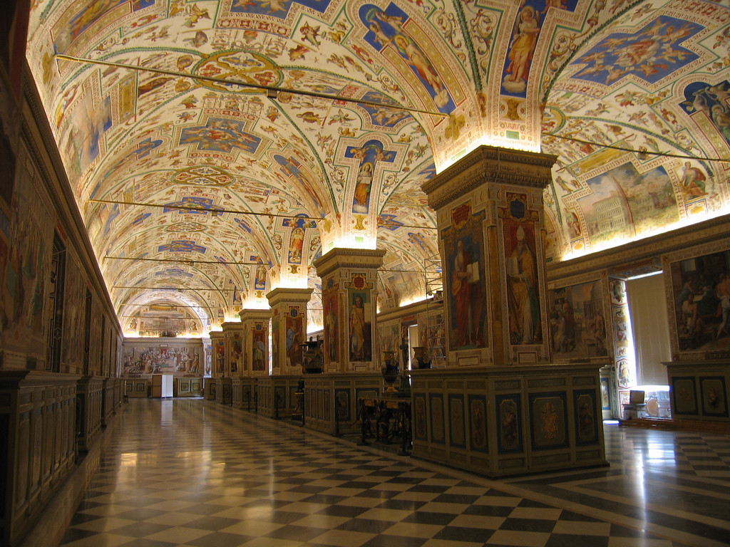 Hallway in the Vatican.