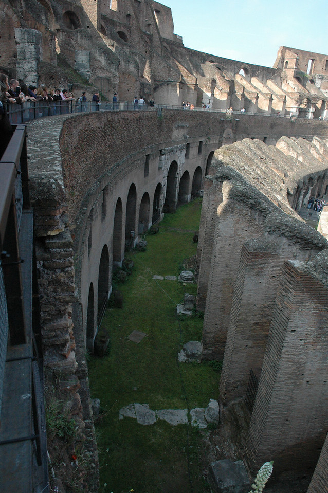 Looking at the ground floor inside the coliseum.