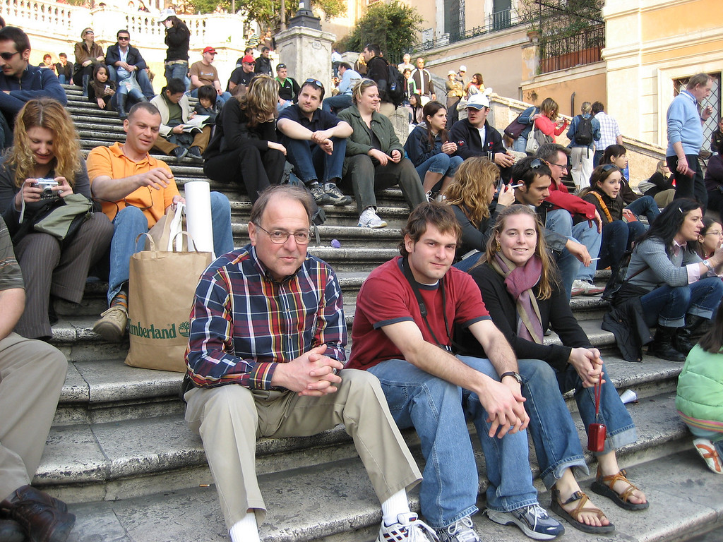 Stan, Jon & Cheryl on the Spanish Steps.