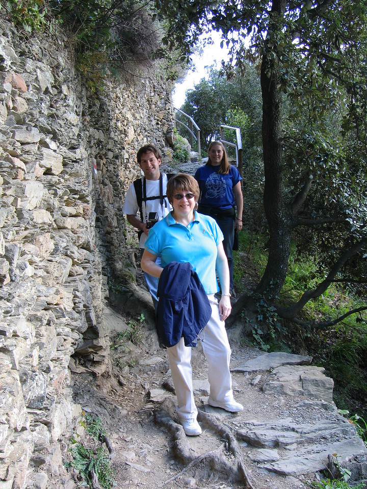 Jon Deutsch, Pat and Cheryl on the trails of Cinque Terre