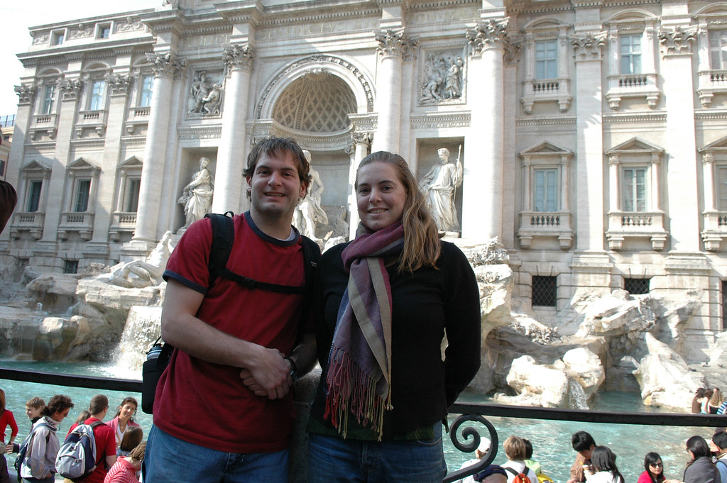 Jon & Cheryl at the Trevi Fountain.
