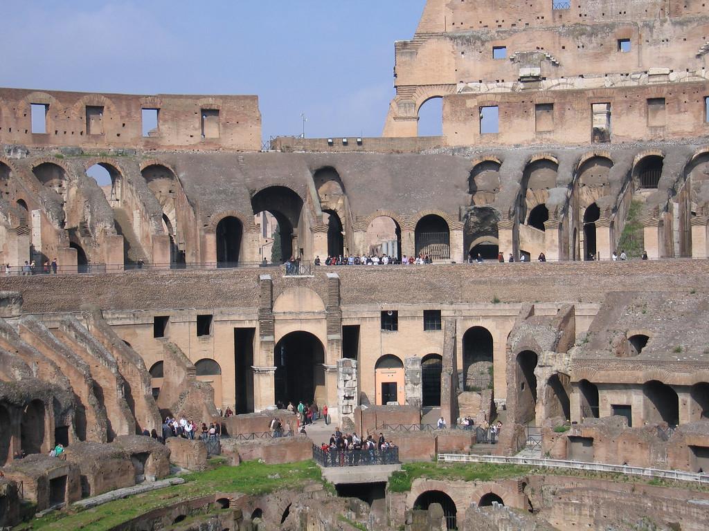 Inside the Coliseum.