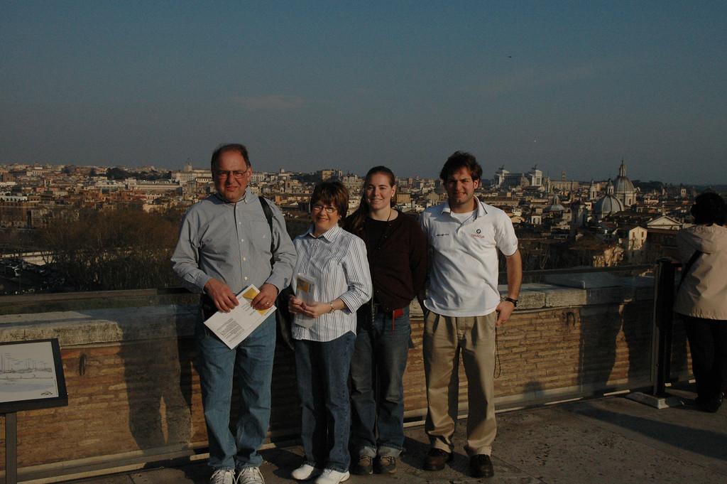 Stan, Pat, Cheryl and Jon Deutsch on top of the Castel Sant'Angelo.