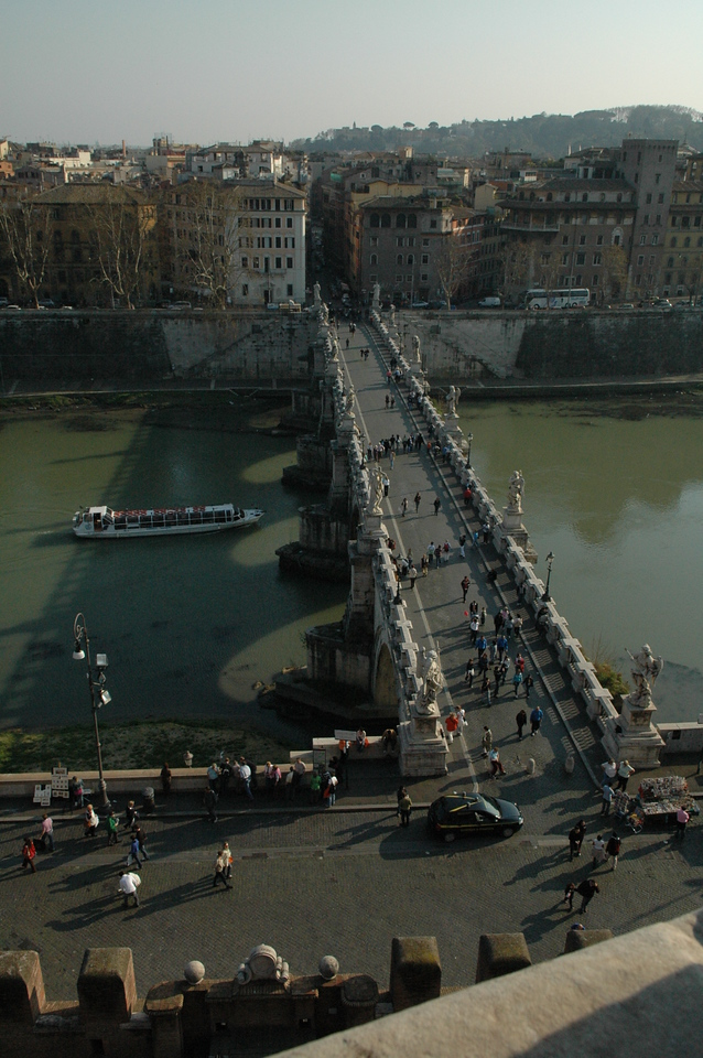 St. Angel Bridge from the Castel Sant'Angelo.